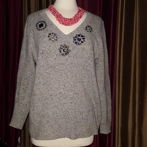 J Crew  embellished sweater